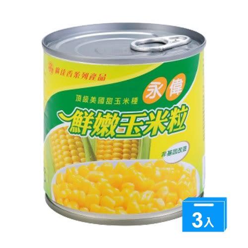 永偉易開罐玉米粒340gx3罐