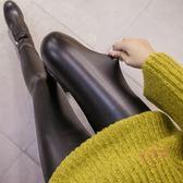 孕婦長版 孕婦褲皮褲薄款托腹打底褲褲子加厚加絨外穿長版 快速出貨