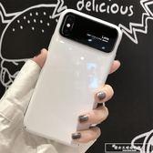 iphonex手機殼蘋果X新款7plus潮牌6男女8p磨砂6s防摔套全包i7鏡面玻璃殼『韓女王』