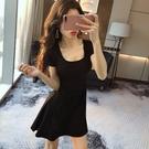 夜店洋裝 心機小黑裙赫本夜店女裝性感連身裙女氣質顯瘦夜場裙子夏季-Ballet朵朵