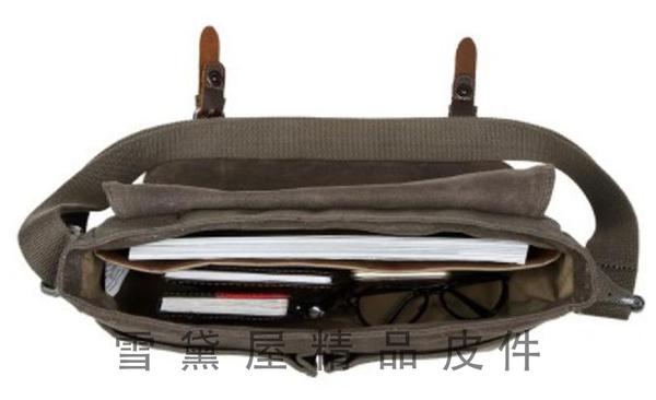 ~雪黛屋~troop 書包大容量可A4資料夾英國手工帆布經典100%防水帆布耐磨耐承重量STRP0426