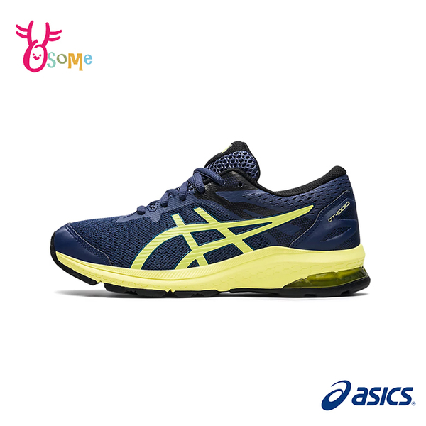 ASICS童鞋 男童慢跑鞋 GT-1000 10 GS 經典款跑步鞋 亞瑟膠 運動鞋 大童運動鞋 亞瑟士 C9196#藍黃
