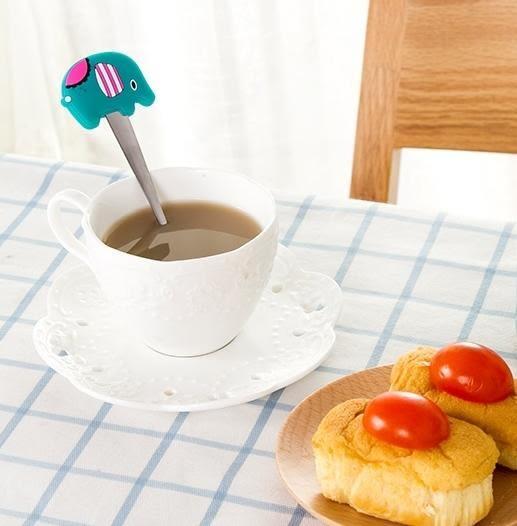 【卡通矽膠防燙不鏽鋼湯匙LA216】NO135咖啡攪拌勺小勺子調羹湯茶匙湯勺【八八八】e網購