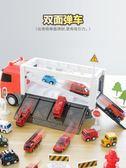 兒童玩具車男孩合金回力小汽車工程卡車模型套裝男童1-2-3-4-6歲5