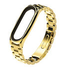 金屬三珠鋼錶帶(金色)