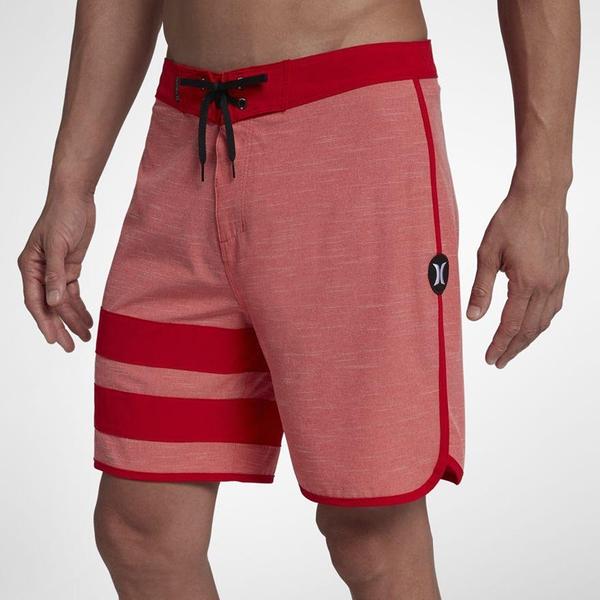 Hurley PHANTOM BLOCK PARTY SLUB 18 海灘褲-PHANTOM-紅(男)