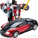 感應變形遙控汽車金剛機器人玩具充電動遙控...