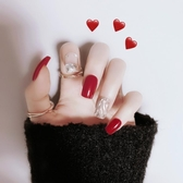 網紅穿戴式假指甲貼片可拆卸美甲貼摘戴式