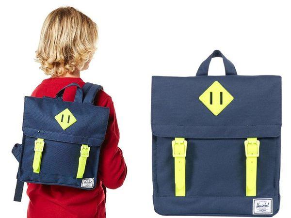 Hsin 72折 現貨 Herschel Survey Kids 橡膠 深藍 帆布 方型 小童 兒童 國小 書包 後背包