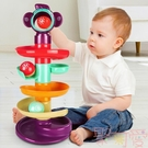 轉轉樂軌道球嬰兒寶寶玩具益智早教疊疊樂滾滑球塔【聚可愛】