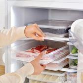 3個裝 可瀝水塑料透明食物收納盒冰箱食品水果保鮮盒帶蓋儲物盒