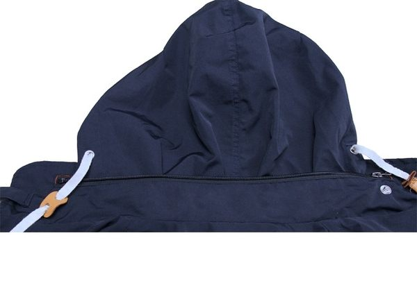 CE認證可拆五件式護具拉鍊抽繩連帽風衣型防護衣