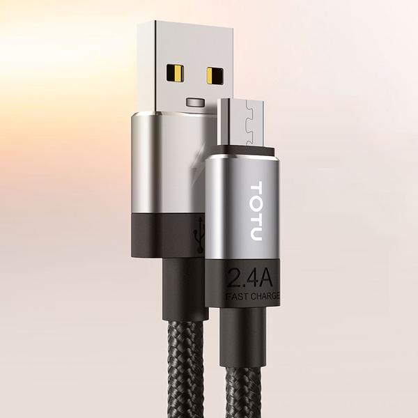 TOTU 安卓MicroUSB充電線傳輸線編織線 2.4A快充 極速系列 300cm