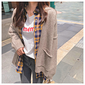 針織毛衣 針織衫裝毛衣外套學生純色簡約針織百搭上衣MB085-B依品國際