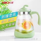 耐熱冷水壺玻璃果汁壺大容量茶壺涼白開水壺家用涼水壺套裝『小淇嚴選』