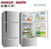 【佳麗寶】-(台灣三洋SANLUX)528公升直流三門變頻冰箱 / SR-C528CV1