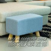 沙發凳子實木長方形換鞋凳矮凳布藝長條凳門廳凳餐凳床尾沙發凳  IGO