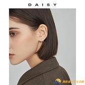 耳釘女純銀999簡約冷淡風耳骨釘耳圈耳扣耳環耳棒耳飾【勇敢者】