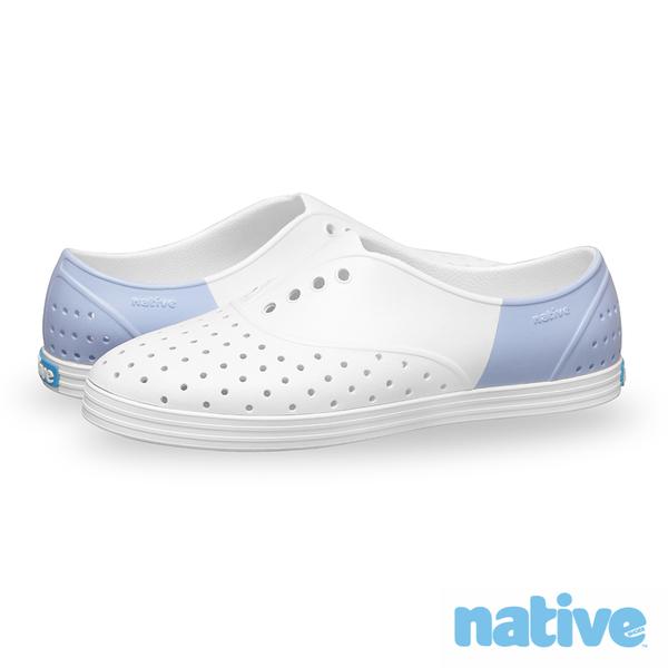 native JERICHO BLOCK台灣限定款修身鞋-寧靜粉藍(女)
