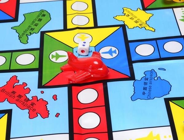 大號飛行棋立體pvc塑料大飛機兒童飛行棋益智