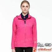 Wildland 荒野 0A81903-09桃紅色 女彈性透氣輕薄外套 抗UV遮陽外套/透氣夾克/連帽防曬/登山運動*
