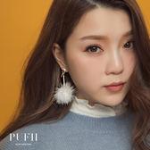 現貨 PUFII-耳環 韓系毛球/大圓毛毛造型耳環 7色-0111 冬【AP14133】