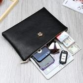 新款手包男潮大容量韓版時尚手抓包軟夾包休閒信封男士手拿包·享家生活館