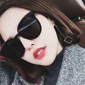 網紅同款黑超眼鏡正韓2018新款墨鏡女潮偏光茶色圓臉太陽鏡明星款 【好康八九折】