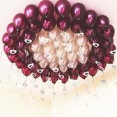 結婚慶用品婚房佈置裝飾圓形汽氣球生日浪漫吊墜套餐創意 三角衣櫃