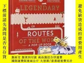 二手書博民逛書店[Gestalten出版]Legendary罕見Routes of the World傳奇的世界之路 英文立體書適