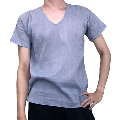non-no儂儂褲襪 (3入)100%純棉竹紗男短袖U領內衣-49130