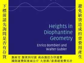 二手書博民逛書店Heights罕見In Diophantine GeometryY255562 Enrico Bombieri