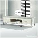 【水晶晶家具/傢俱首選】CX1416-1 金象6.6呎烤白手工銀漆二抽石面電視長櫃