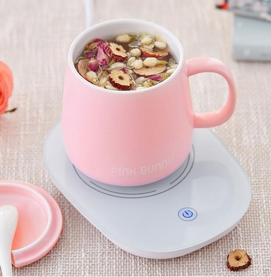 恆溫墊班尼兔暖暖杯熱牛奶加熱器保溫底座杯墊家用55度恒溫寶電熱水杯 艾瑞斯居家生活