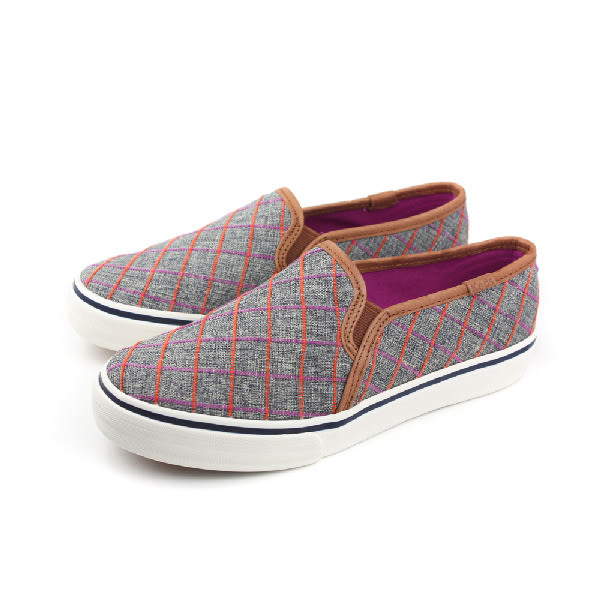 Keds DBL DECK WINDOW PLAID 懶人鞋 帆布鞋 好穿脫 學院風 女鞋 灰色 格紋 窗格 9163W131887 no208