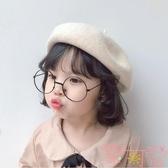 兒童貝雷帽寶寶親子南瓜帽小女孩禮帽【聚可愛】