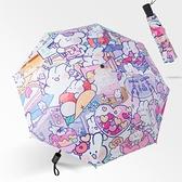 ins雨傘女晴雨兩用遮陽傘防紫外線太陽傘小巧防曬便攜自動傘動漫1 幸福第一站