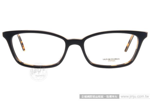 OLIVER PEOPLES 光學眼鏡 SCARLA 1309 (黑-琥珀) 極致工藝百搭細框款 # 金橘眼鏡