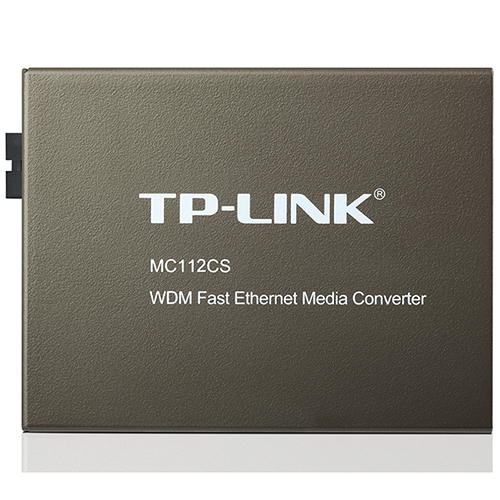 TP-LINK MC112CS WDM 快速乙太網路媒體轉換器
