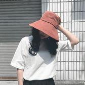 夏天遮陽帽女防曬太陽帽休閒百搭漁夫帽度假帽子女全館免運