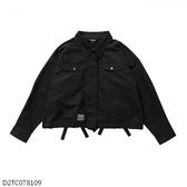 MIZUNO 女裝 外套 套裝 休閒 1906 平織 後背綁帶造型 黑【運動世界】D2TC078109