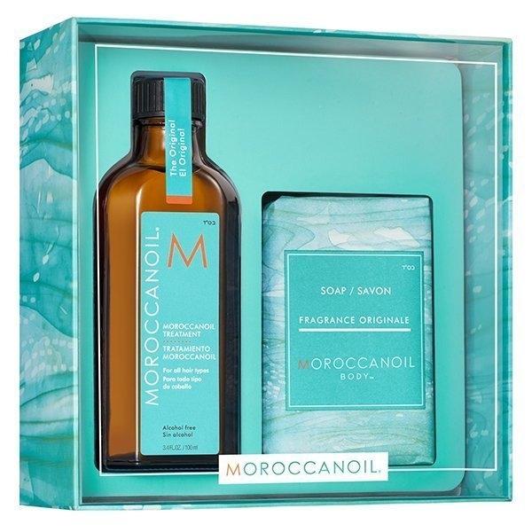 MOROCCANOIL 摩洛哥~優油愛皂禮盒(優油125ml+沐浴皂200g) 台灣公司貨【UR8D】