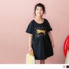 《QA1082》親子系列~可愛花豹純棉口袋長版上衣/洋裝 OrangeBear