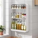 廚房置物架 廚房置物架調料架壁掛免打孔墻上多層收納架子儲物家用調味品掛架