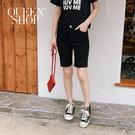 Queen Shop【04130071】素色割破合身五分褲 兩色售 S/M/L/XL*現+預*