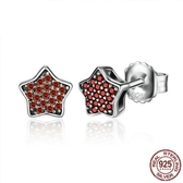 耳環 925純銀-鑲鑽經典星星簡約百搭女飾品73oh59【時尚巴黎】