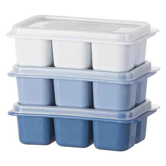 冰塊模具 製冰盒 分裝盒 保鮮盒 速凍器 冰球 收納盒 冰塊盒 製冰 莫蘭迪三入小冰格【S023】MY COLOR