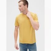 Gap男裝復古水洗圓領短袖T恤440773-金色