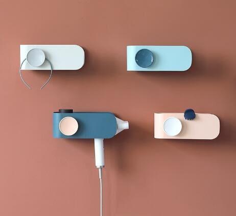 掛戴森吹風機掛套支架繞線免打孔多功能收納套風筒架衛生間浴室YYS 朵拉朵衣櫥