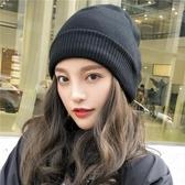 秋冬天毛線帽女士潮正韓時尚百搭韓國保暖月子帽冷帽針織帽子冬季